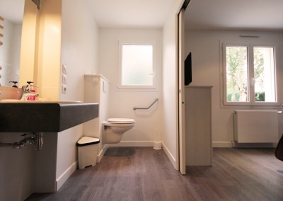 """Photo des WC et son accès """"après"""""""