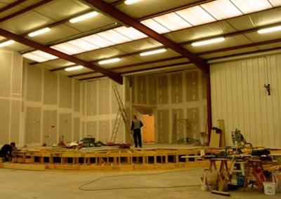 Photo de l'intérieur pendant les travaux